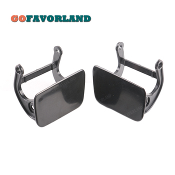Pair Headlight Washer Nozzle Cover Cap & Lever Left Right Unpainted 51117060585 51117060586 For BMW E60 E61 525i 528i 530i 2005 image