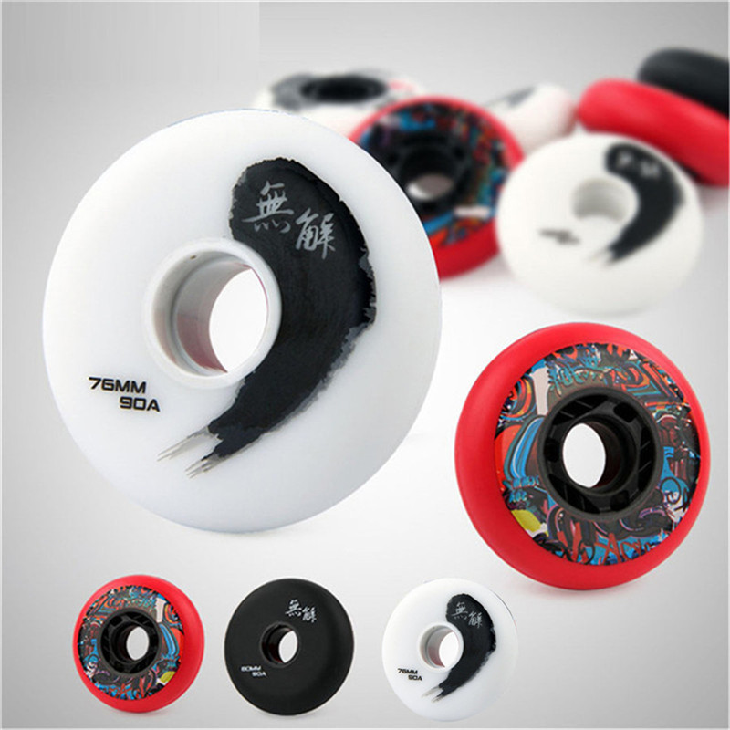 [72mm 76mm 80mm] Slide 90A Slalom Slide Skating Patines 85A Professional Inline Roller Skates Wheels For SEBA Powerslide