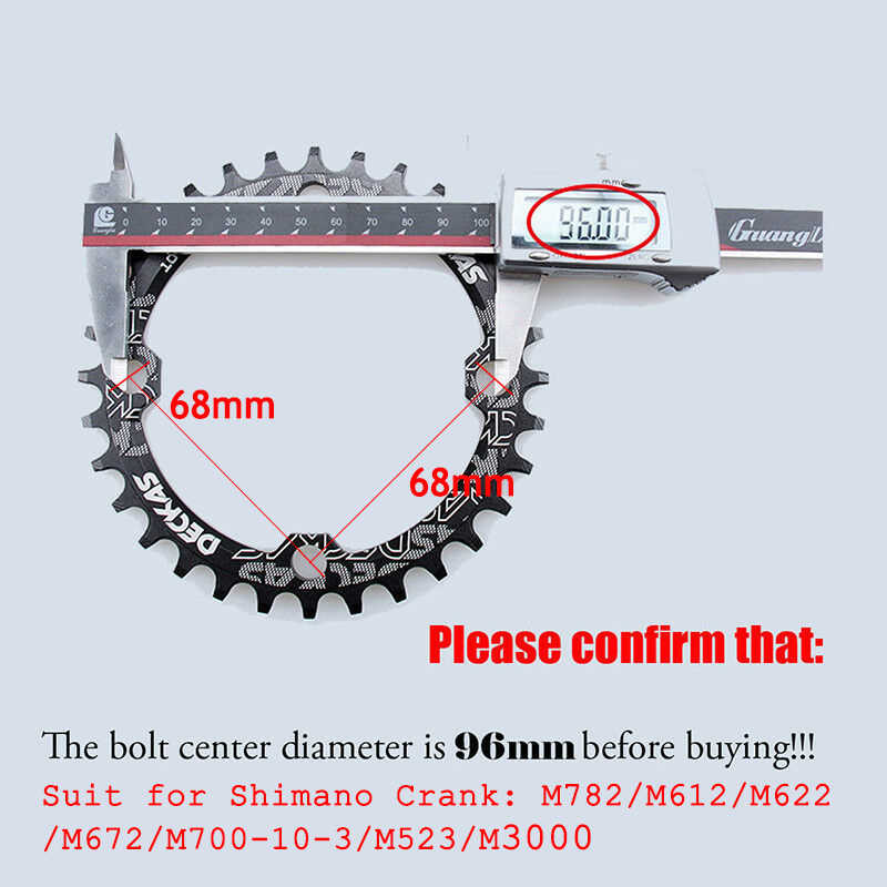 DECKAS 96BCD 94BCD Chainring กลมรูปไข่ Mountain จักรยานแคบกว้างแหวนจักรยาน Crankset 32 T/34 T /36 T/38 T SHIMANO DEORE