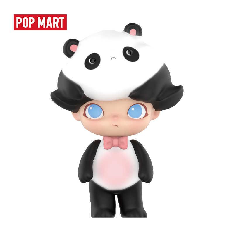 Muñeca de caja ciega de animales de POPMART, 1 unidad, figura de acción binaria, regalo de cumpleaños, juguete para chico, envío gratis
