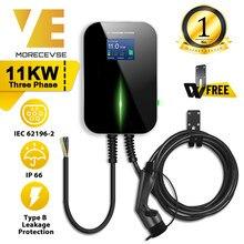 Ev Charger Elektrische Voertuig Opladen Station Evse Wallbox Met Type 2 Cable16A 3 Fase Iec 62196-2 Voor Audi mercedes-Benz, smart