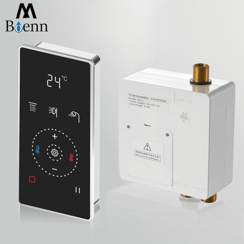 Bateria do łazienki miksery prysznicowe zawór sterujący przełącznik ścienny ukryty prysznic kran szczotkowany gorący mieszacz zimnej prysznice 2 funkcje