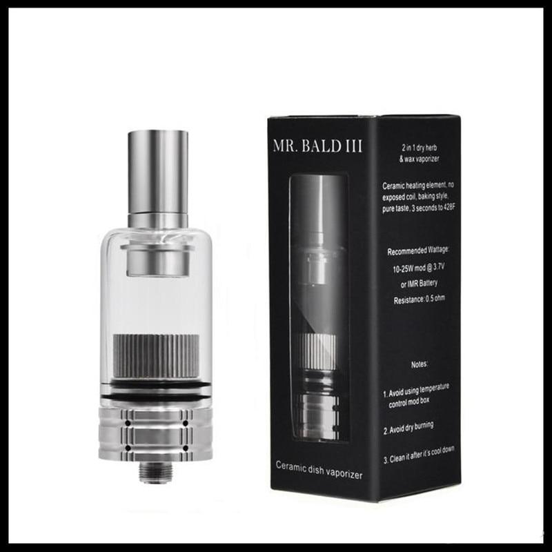 Longmada Wax Tank Mr Bald III 510 Thread Dry Herb Starter Kit Atomizer Replaceable Ceramic Heating Coil Chamber For Vape Pen Mod