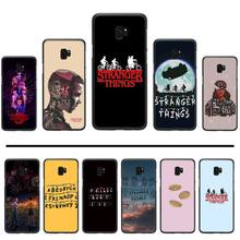 Stranger Things Black TPU Soft Phone Case Cover For Samsung Galaxy S5 S6 S7 S8 S9 S10 S10e S20 edge plus lite p232 triangle black silicone case cover for samsung galaxy s5 s6 s7 s8 s9 s10 s10e lite edge plus