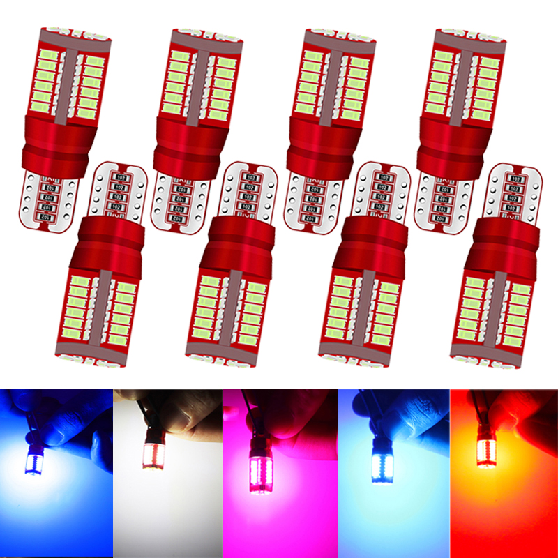 8x Car Styling W5W <font><b>LED</b></font> <font><b>Canbus</b></font> Bulb Car Lights T10 57SMD wy5w 12V 3014 Auto Lamp <font><b>5W5</b></font> Lights Marker Light Parking Lamp Motor Wedge image