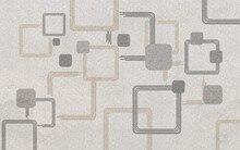 3d floor painting wallpaper Modern minimalist geometric combination pattern carpet decorative