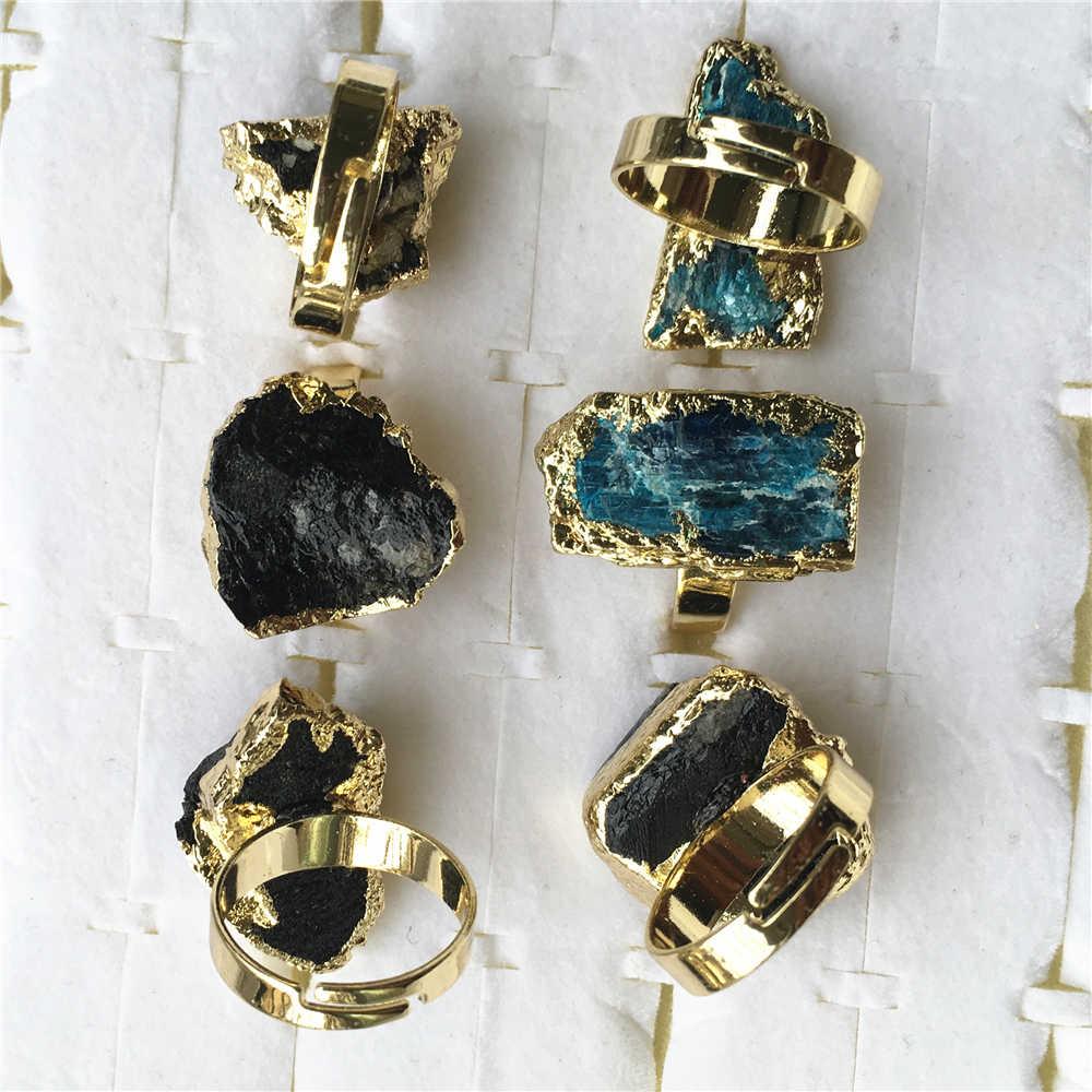Black or Blue gold adjustable rings
