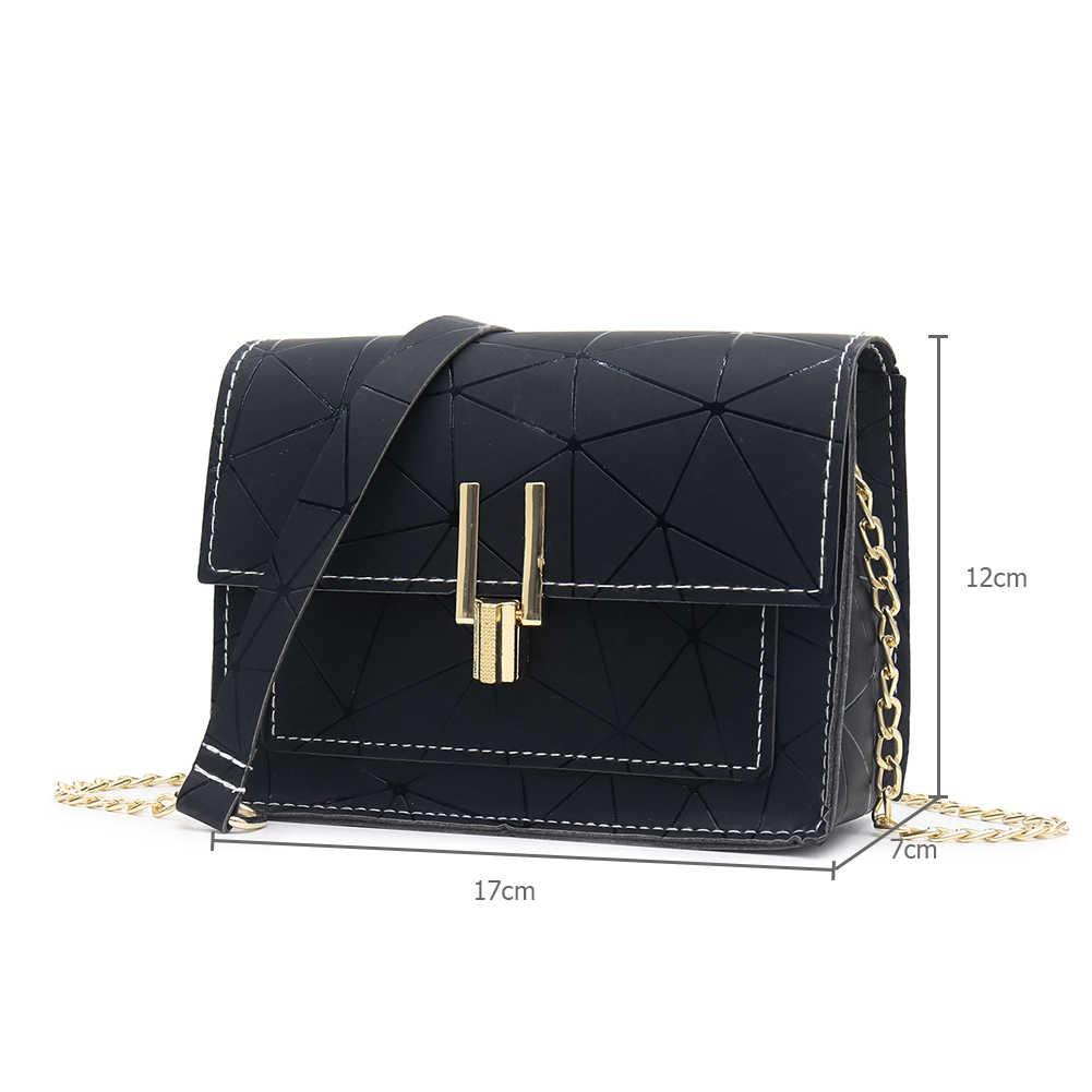 Geometric Print Crossbody Bag for Women 2019 Fashion New PU Leather Messenger Satchel Bag Girls Bolsas Feminina Mujer Sac A Main