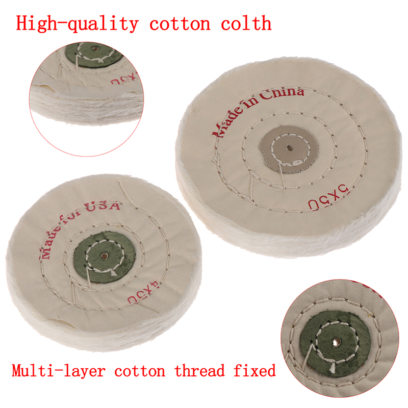 1Pcs New White Cloth Round Flannel Wheel Polishing Cloth Round 6 Inches 40/50 Layer For Dental Lab