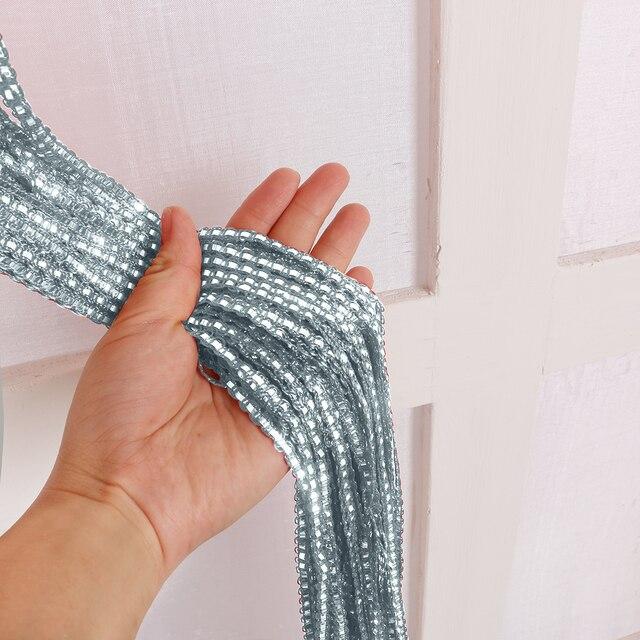 100x200cm Home Divider Sheer Door Window Decor Tassel Panel Shiny String Curtain String Sheer Curtain For Kitchen Living Room 3