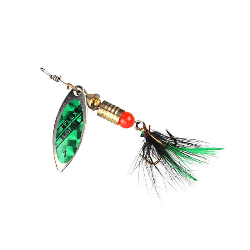 Kim Loại Thìa Spinner Mồi 2.5-4.4G Lông Móc Sequin Biển Mồi Dụ Cá Cau Nhân Tạo Paillette Wobbler Jig Kim Loại BUZZ Mồi