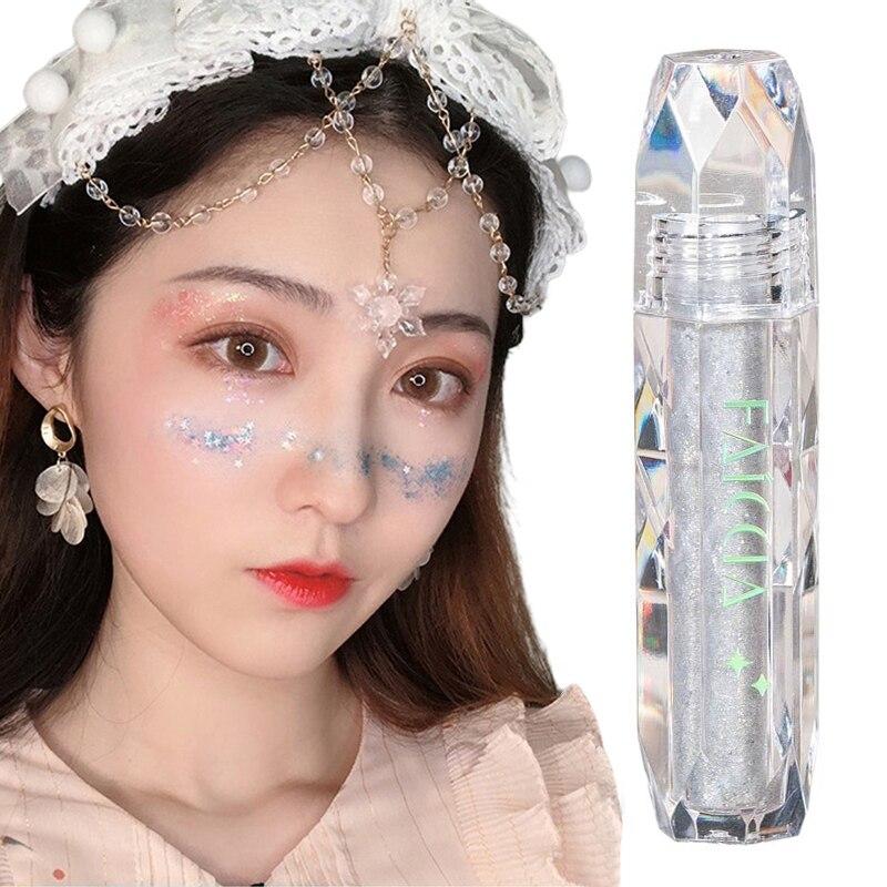 Faey Diamant Flüssigkeit Lidschatten Liegen Seidenraupe Glitter Pulver Perlglanz Hochglanz Wasserdicht Pailletten Lidschatten