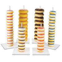 6*Donut display stands Holder Cake Cookie Tower Display Holder Detachable Party Wedding Birthday Cake Stand Decoration