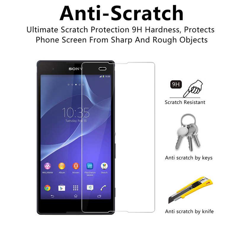 2 pcs! Smartphone Temperato di Protezione In Vetro per Sony Xperia Z5 Premium Z4 Z3 Più Z2 Compatto Protezione Dello Schermo per Sony Z1 Z