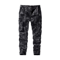 Amazon European and American camouflage pants popular logo overalls cross border men's casual pants pure cotton large men's wear