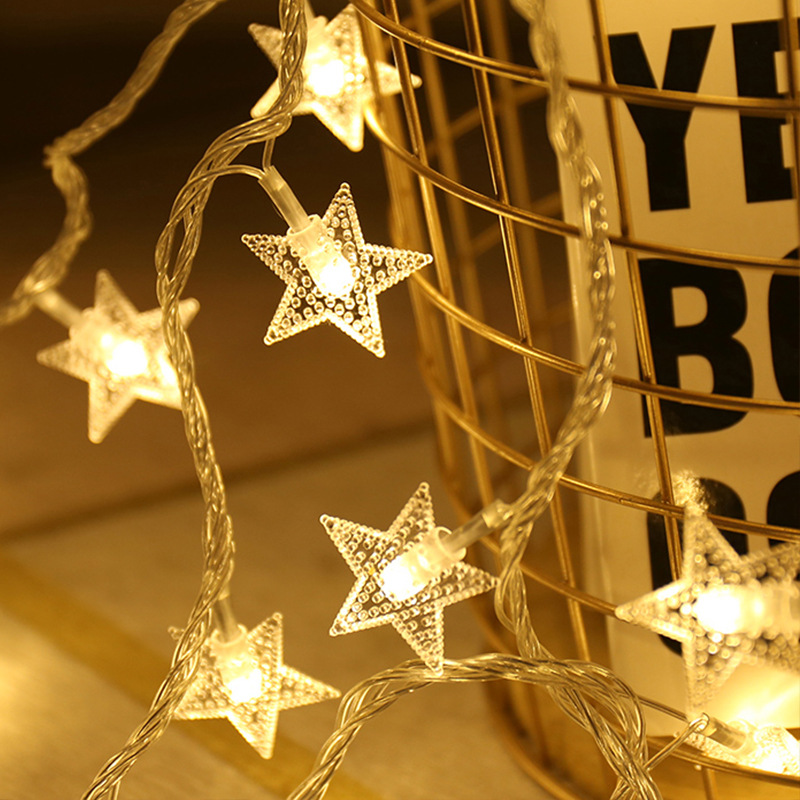 220V/USB Operated Star String Lights LED String Lights Christmas Holiday Party Wedding Decoration Lights Operate Twinkle Lights