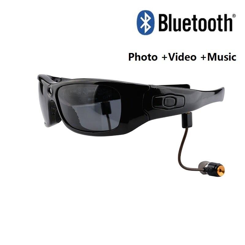 HD lunettes de soleil caméra polarisée Mini caméra Bluetooth casque DV caméscope DVR caméra vidéo pour l'action en plein air Sport vidéo dfdf