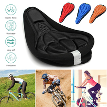 MTB Mountain Bike Cycling Thickened Extra Comfort Ultra Soft Silicone 3D Gel Pad Cushion Cover Bicycle Saddle Seat 4 Colors 3d soft bike saddle pad cycling saddle silicone mtb mountain bike seat cover cushion bicycle accessories