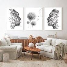 Decoración Para el hogar, póster vintage, lienzo abstracto, impresión en la pared, figuras, carteles e impresiones en la pared, cuadros para sala de estar