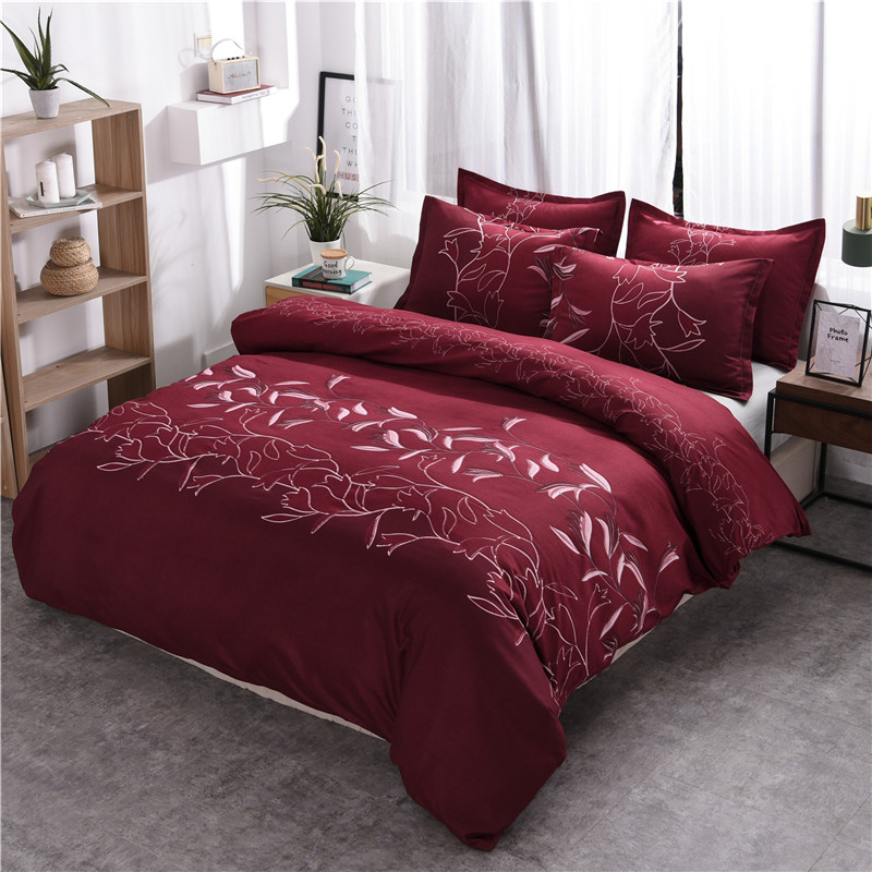 WarmsLiving Home Textile Bedding Set Plain Simple Print Flower <font><b>funda</b></font> <font><b>nordica</b></font> <font><b>cama</b></font> <font><b>135</b></font> Comfortable Duvet Cover Set quilts 150 image