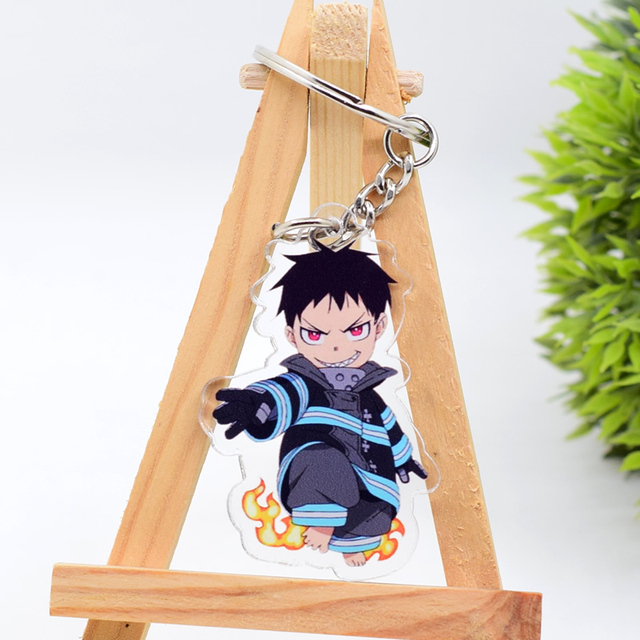 New Cartoon Keychain Demon Slayer/My Hero Academia Key Chain Ring Anime Fairy Tail/ Fire Force Keyring Hot Sales 3