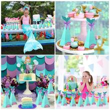 בת ים מסיבת מתנת ממתקי קופסות קטן בת ים מסיבת יום הולדת דקור ילדים יום הולדת מתנות מסיבת חתונת סוכריות קופסות תינוק מקלחת