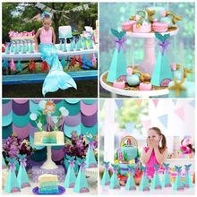 Cajas de Regalo de dulces de fiesta de sirena, decoración de fiesta de cumpleaños de sirenita, regalos de cumpleaños para niños, Cajas de caramelos para fiesta, Baby Shower