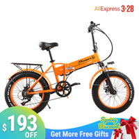 "2020 new electric bike Fat tire 500W Mountain bike 7Speed 45km/h battery ebike 20"" Off road bike electric bicycle