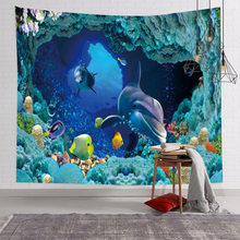 Nordic Background Fabric 3D Effect Tapestry Hanging Cloth HD Digital Printing Wall macrame wall hanging wall decor bedroom