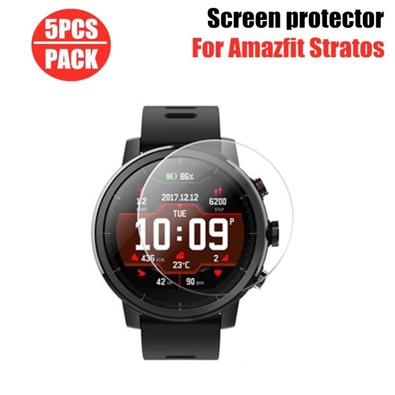 5 шт. ТПУ защитный экран для смарт-часов Amazfit Stratos 3 2 2S чехол для Xiaomi Huami Amazfit Stratos3 мягкая защитная пленка