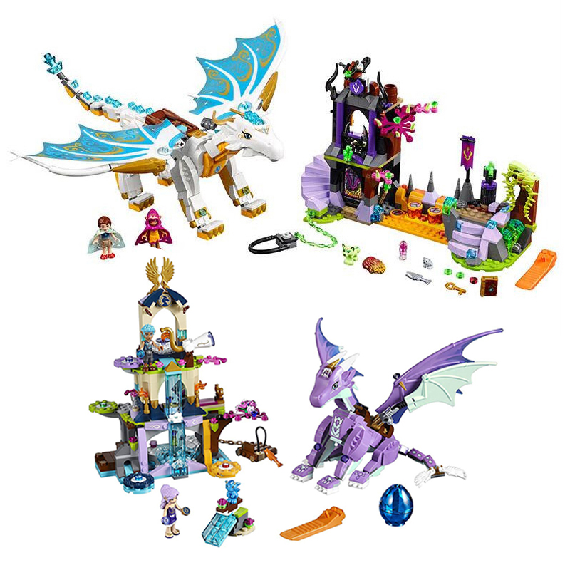 New Friends Series Toys Queen Dragon's Rescue Compatible lepinngl Friends 41179 41178 Buildin Blocks Toys for Kids Birthday Gift image