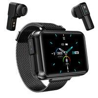 Reloj inteligente T91 2 en 1 TWS Auriculares inalámbricos con Bluetooth para hombre, con pantalla grande de 1,4