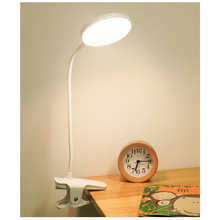 LED Desk Lamp Portable Touch On/Off Switch Eye Protection Clip Table Light 3 Modes Dimmable USB Rechargeable Desk Lights