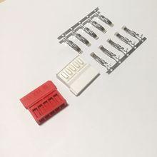 10 takım HDD SSD sabit Disk sürücüsü 15p SATA güç uzatma kablosu düz Pin tel terminalleri elektrik konnektörü Jack kırmızı beyaz renk