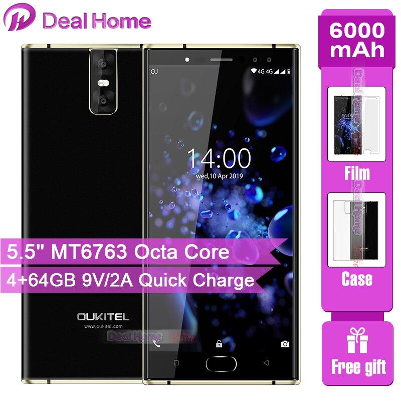 OUKITEL K3 Pro 4GB+64GB Smartphone Android 9.0 Pie MT6763 Octa Core 5.5