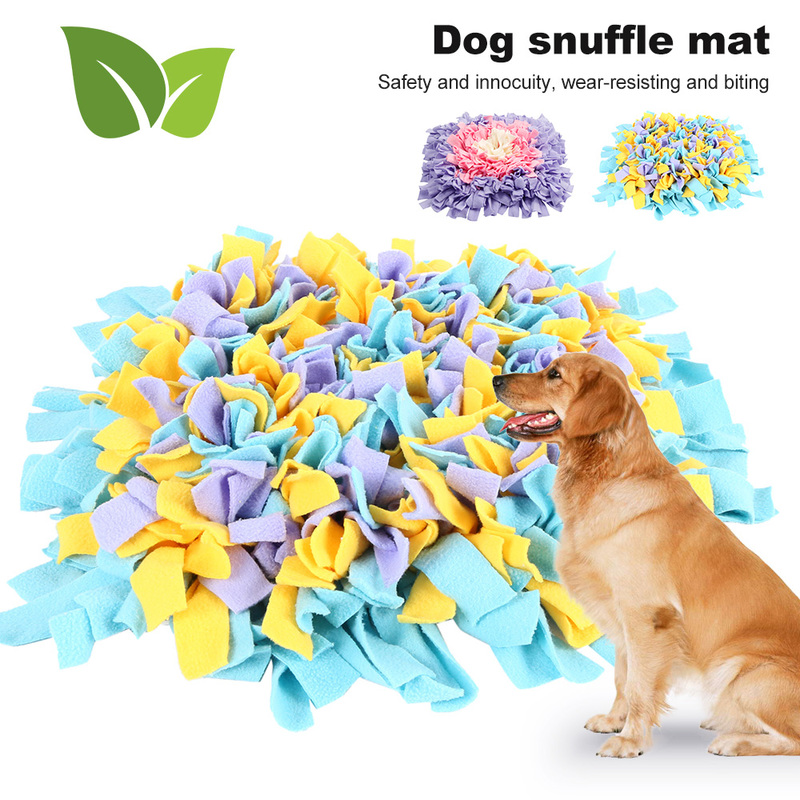 Dog Snuffle Mat Puppy Pets Sniffing Training Soft Pet Nose Pad Colorful Activity Training Blanket Fleece Pads Dog Supplies