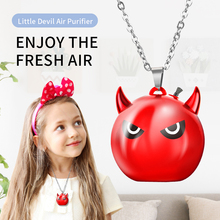 цена на Little Devil Air Purifier Aromatherapy Machine Air Purifier Humidifier Ionizer Cleaner Car Supplies Portable Anion Necklace