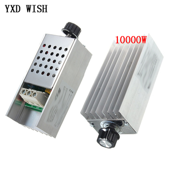 10000W 25A Speed Controller High Power SCR Voltage Regulator Dimmer Switch Speed Temperature Control Thermostat AC 110V 220V