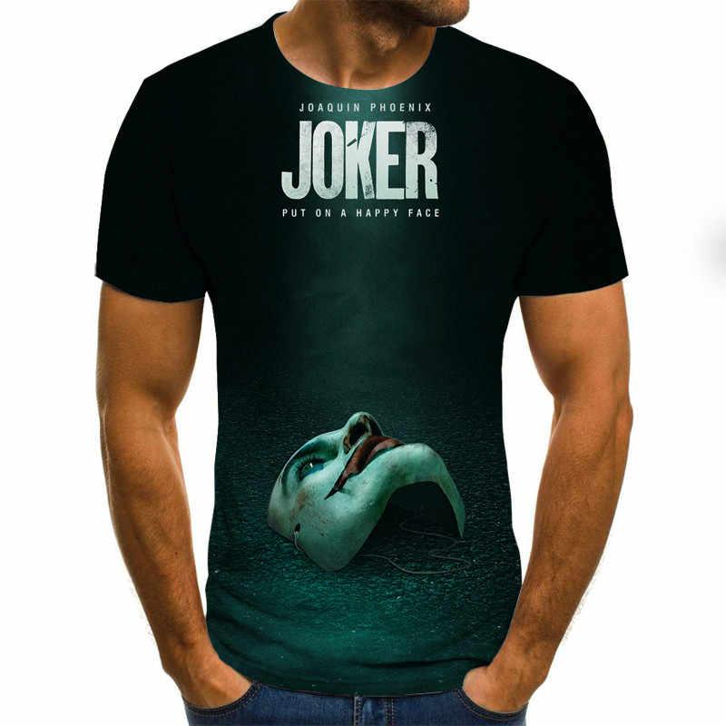 2020 hot-sprzedaż Clown 3D męskie koszulki z nadrukiem Joker twarz mężczyzna tshirt 3d Clown z krótkim rękawem śmieszne koszulki topy i koszulki XXS-6XL