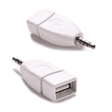 Converter Adapter USB 2.0 Female to 3.5mm Male AUX Audio Durable Car Plug Jack DXY88