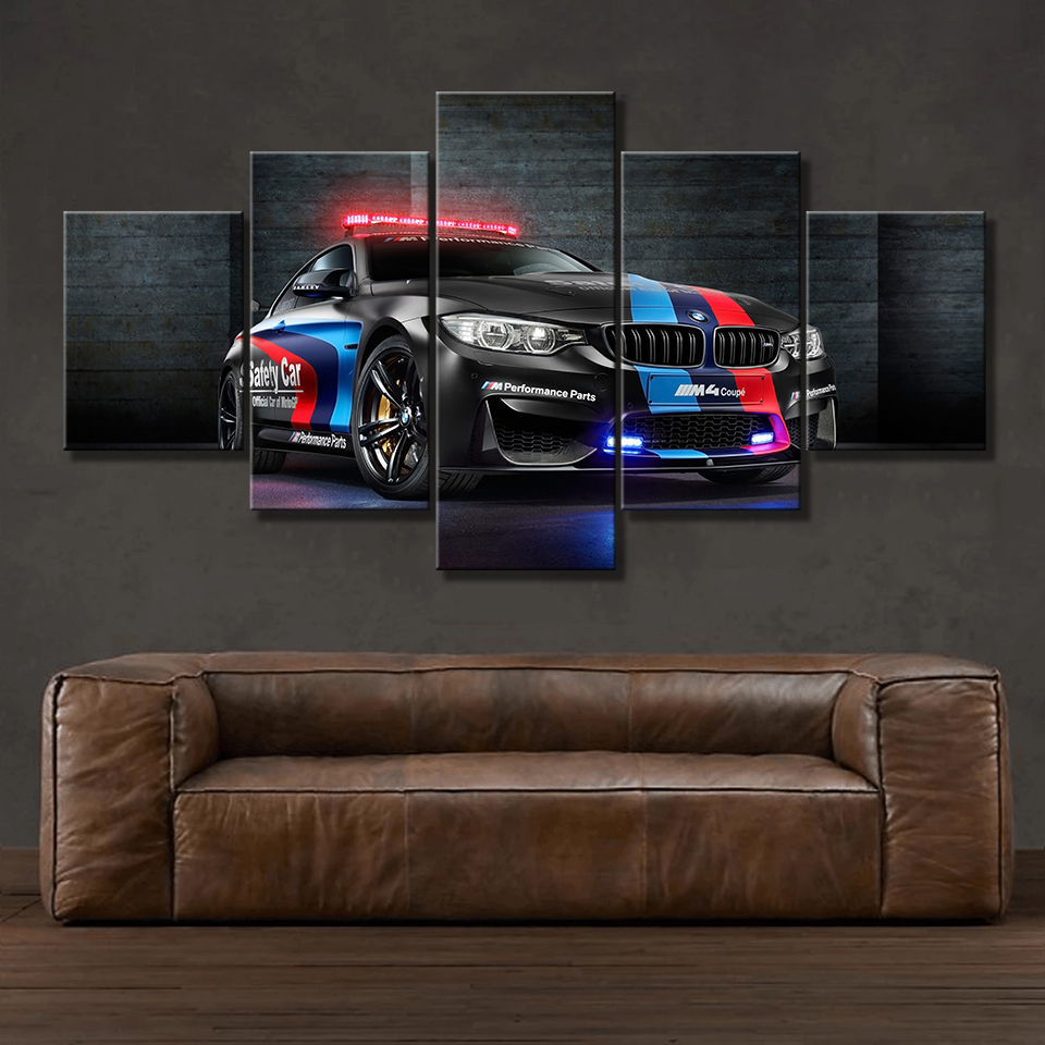 Modular Poster Frame Decorative Canvas Painting Car-Pictures Wall-Art Prints Living-Room
