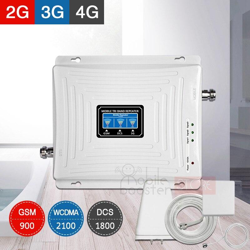 Ретранслятор gsm 2g 3g 4g Сотовый усилитель 4G усилитель сигнала мобильный ретранслятор сигнала Усилитель GSM тройной диапазон 900/1800/2100