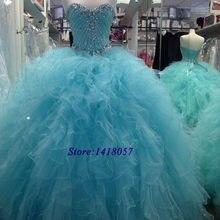 Cristais de luxo vestido bola doce 16 quinceanera vestidos baratos 2020 plus size vestidos de baile 15 anos