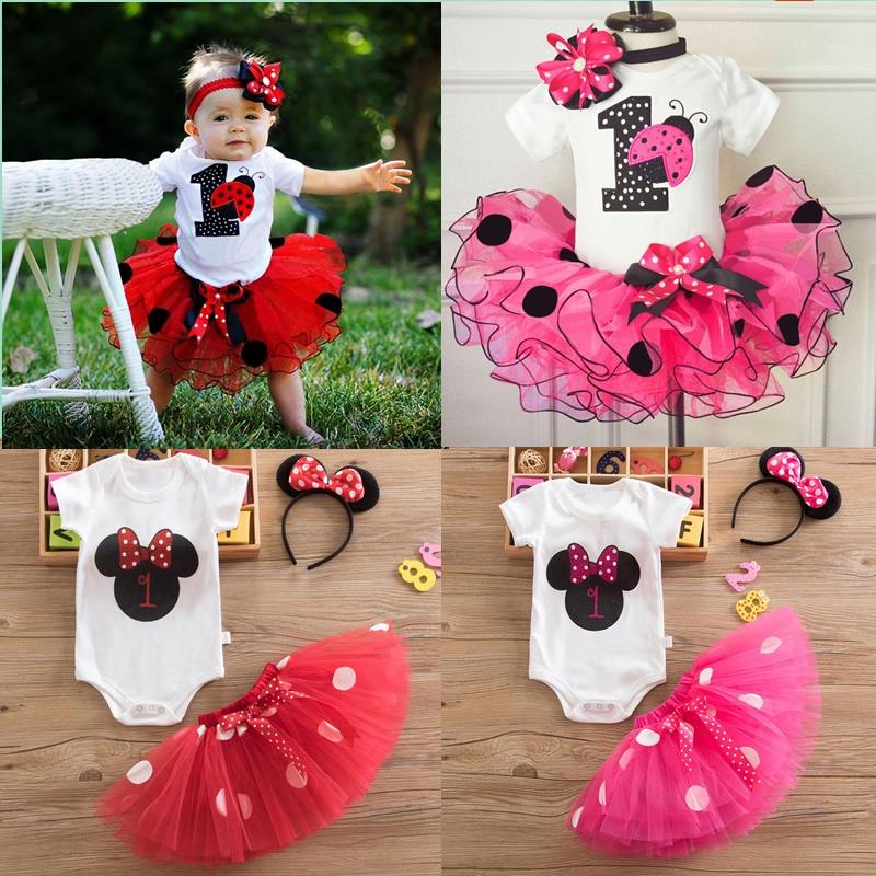 Bebê meninas 1st festa de aniversário tutu vestido do bebê recém-nascido um ano de idade batismo tutu outfits vermelho natal infantil princesa traje