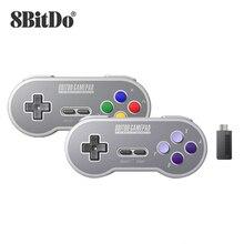 8 8bitdo SN30 2.4G ו SF30 2.4G בקר אלחוטי Gamepad עבור SNES וsfc עבור Windows אנדרואיד PC mac