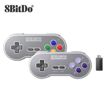 8bitdo sn30 2.4g e sf30 2.4g controlador gamepad sem fio para snes e sfc para windows android pc mac