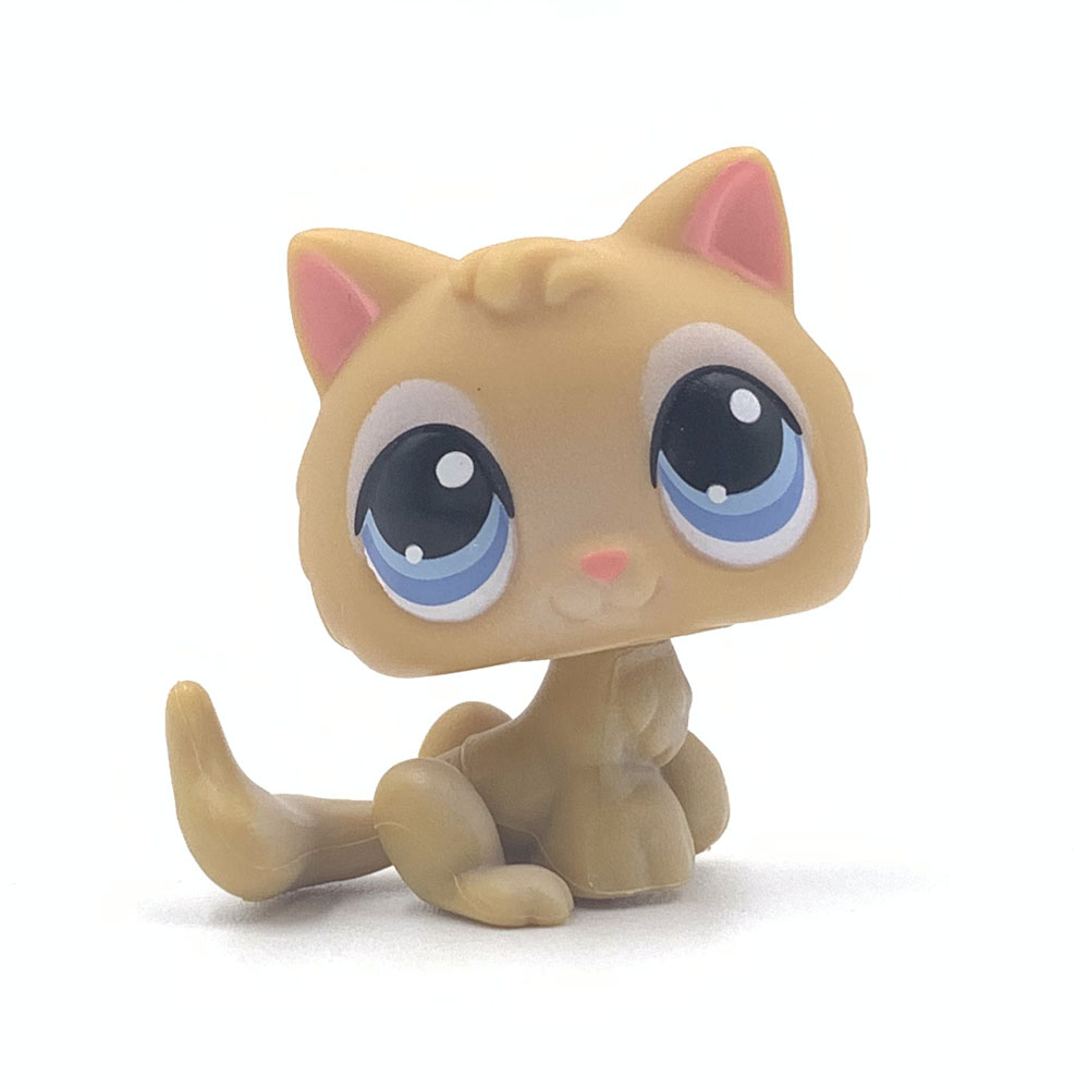 Rare Original Pet Shop Toys Cat #47 Light Yellow Baby Kitty Cute Animal Kitten For Girls Collection