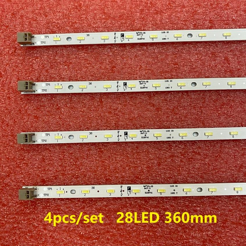 4 шт./компл. 28 светодиодный 360 мм светодиодный подсветка для E129741 32PFL6606H/60 32HFL5573D GT0326-1 GT0326-2 GT0326-4 SHARP экран LK315D3LA63
