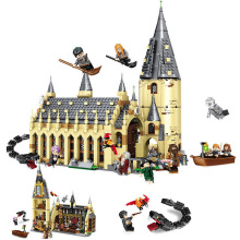983pcs Harri Castle Hall Hogwartse Express Building Blocks Educational Toys Compatible With Lepining Friends City 983pcs harri castle hall hogwartse express building blocks educational toys compatible with lepining friends city