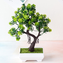 Имитация украшения для бонсай поддельное дерево в горшке приветливое сосновое пластиковое искусственное растение в горшке украшение для д...
